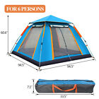 7 Person Pop-Up Camping Tent w/2Poles Waterproof Outdoor Familiy Camping Tent