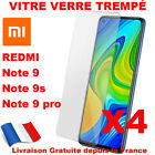 Lot 4 VERRE TREMPE POUR XIAOMI REDMI NOTE 9S 9 PRO 9 PRO MAX - PROTECTION ECRAN