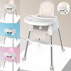 Baby High Chair Infant Booster Feeding Seat Convertible Table Desk Tray Table