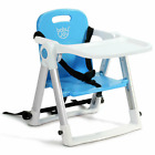 Baby Toddler Booster Feeding Chair High Chair Safety Belt Folding Above Seat Sit