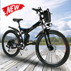 26INCH Electric Bike Folding Mountain Bicycle City EBike Shimano 21Speed 20MPH#