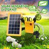 Solar Power Panel Generator+2 LED Blub Charger Home System Outdoor    Q