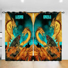 Godzilla 2PCS Thermal Window Curtain Panel Bedroom Living Room Curtain Drapes