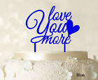 Love You More Wedding Cake Topper Personalized Kuchendeckel Color-Sfs