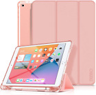 10.2 iPad 8th Gen Case Flip Cover Folio Full Body Protection Pencil Holder Stand