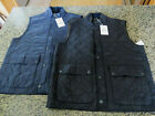 BARBOUR Men's Rosemont Gilet Full Zip Vest L/XL/XXL in Navy or Black
