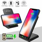 10W Qi Cordless Fast Charger Charging Pad Stand Dock Samsung Galaxy S10 S20 Note