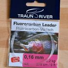 Fluorocarbon Leader Fliegenvorfach mit Loop 9ft /275 cm. 6X -  0X  Leader