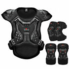 Motorcycle Rider Safety Jacket Anti-impact Full Body Protective Knee Elbow Gear