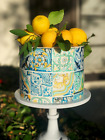 Positano Tile printed Wafer Paper Icinng sheets Edible cake Image Lemon