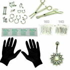 41 Pcs Professional Body Piercing Tool Kit Ear Nose Navel Nipple Needles Set
