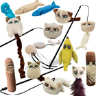 Cat Kitten Catnip Toys Official Grumpy Cat Wands Plush Feather Rattling Crinkle