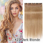CLEARANCE Clip in Remy Human Hair Extensions One Piece Weft Virgin 3/4 Full Head