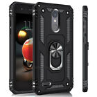 For LG K8 2018/K8 Plus Case Shockproof Metal Ring Stand Phone Cover +Accessories