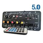 Digital Bluetooth Stereo Amplifier Board Subwoofer Dual Microphone For Speaker=/