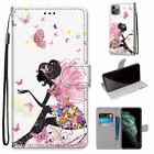 Butterfly Girl Flip Wallet Phone Case For Samsung S6 S7 S8 S9 S10 Note 10 A70 A3