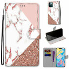 Pink Marble Flip Card Wallet Phone Case For iPhone 11 12 Pro Max XR XS 6 7 8 SE