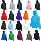 FRUIT OF THE LOOM HOODED TOP HOODIE 17 COLOURS S-XXL BN