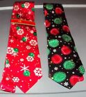 Mens Christmas ties with ornaments & Snowflakes NEW