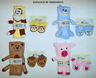 STUFFED ANIMAL BABY BLANKET & BOOTEES SET – BLUE BEAR or BROWN KITTY – NWT
