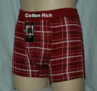 Men's Stretch Cotton Plaid Boxer Soft Touch Comfortable