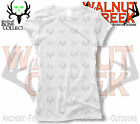 Bone Collector Skulls Antler Logo Burnout White Ladies Fitted Shirt 303-1178WW