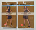HANES - PANTYHOSE – SHAPING CONTROL TOP - BROWN or BLACK - SM - LG – XXL -NIB $9