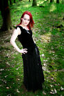 CRUSHED VELVET GYPSY SKIRT/Belly Dance/Goth/Pagan/Hippy/RowansCloset