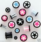 Plugs Single Flare Star 4g, 6g, and 8g Pick your pair