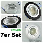 4 x LED Einbaustrahler Downlight Set 12V inkl. Trafo