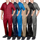 Mens Dickies SHORT SLEEVE COVERALLS color RED GRAY NAVY BLUE KHAKI