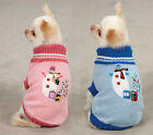East Side Collection Snowflake Snuggler Dog Sweater Pet Pink Blue XXS-L Faux Fur