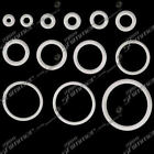 1 PAIR CLEAR RUBBER 'O' RINGS SPARE O RINGS IN 13 SIZES FOR BODY JEWELLERY