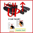 Wedding Shoe insoles HEIGHT INCREASE highen insert TALLER Heel 6cm lifts pad hot