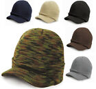 RESULT ESCO ARMY KNITTED BEANIE BEANY HAT CAP WITH PEAK - 9 COLOURS FAST POST