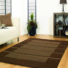 SMALL-MEDIUM-XLARGE THICK DARK CHOCOLATE BROWN BEIGE MODERN VISIONA RUGS