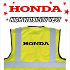 HONDA Branded MOTORCYCLE High Visibility Hi Viz HV Vest Yellow - VARIOUS Sizes