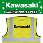 KAWASAKI MOTORCYCLE High Visibility Hi Viz HV Vest Yellow - VARIOUS Sizes