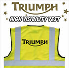 TRIUMPH MOTORCYCLE High Visibility Hi Viz HV Vest Yellow - VARIOUS Sizes