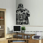 LARGE PERSONALIZED DARTH VADER STAR WARS CHILDRENS BIG BEDROOM WALL STICKER ART