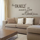 LARGE BEDROOM QUOTE FAMILY LOVE GIANT WALL ART STICKER TRANSFER STENCIL DECAL