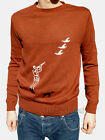 Mens shooting hunting Jumper hunter country vtg retro Rust Brown xs s m l xl