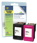 2 Remanufactured HP 301XL Black / Colour Ink Cartridges for Deskjet Printers