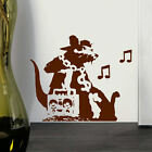 LARGE BANKSY GHETTO RAT WALL ART STICKER TRANSFER MURAL DECAL POSTER