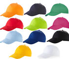 Pack of 5 Childrens Baseball Caps - 14 Great Colours