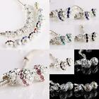AUSTRIAN CRYSTAL 10MM DISCO FLOWER BALL DANGLE CHARM BEADS FIT EUROPEAN BRACELET