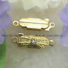 Yellow Gold Plated Rhinestone Clasps findings