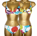 Bright Floral Underwired Bikini Sizes 8 - 14 New 2 colours New Beachwear