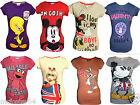 Ladies Girls Disney & Cartoon T Shirts Top Official Size 6 8 10 12 14 16 18 20