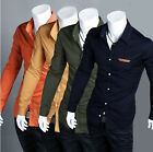 NWT Mens Casual Slim Fit Stylish Dress Shirts 4Colours 4Size H655